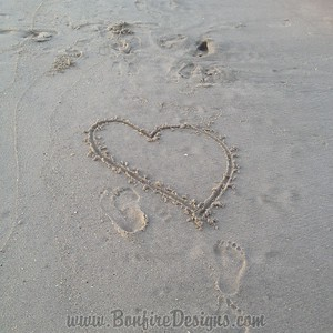 Beach Heart In The Sand