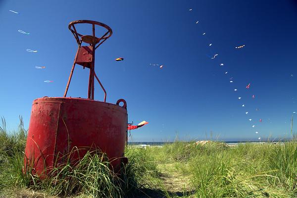 Beached Bouey & Kites.