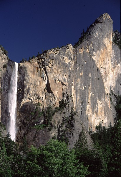 Leaning Tower & Bridalveil Falls, Yosemite.