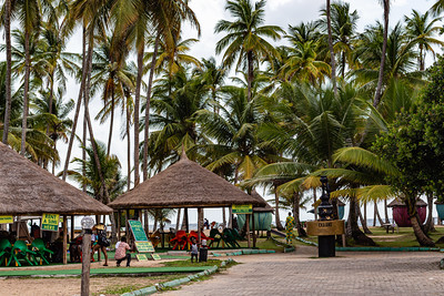 Lagos beaches, some gazebos, huts,  La Campagne beach resort, Lekki, Lagos, Nigeria, West Africa, Atlantic ocean coast line,