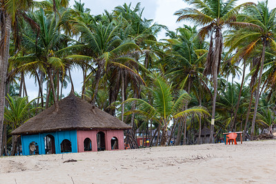 Lagos beaches, coconut goves, huts, gazebo, sandy beach, horse on the beach,  La Campagne beach resort, Lekki, Lagos, Nigeria, West Africa, Atlantic ocean coast line, canoes on the ocean,