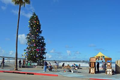 Christmas Tree at Ocean Beach