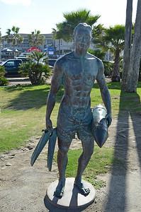 Lifeguard Statue near the Pier