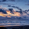 Sunset on Kalaloch Beach on the Olympic Peninsula near Forks, Washington State