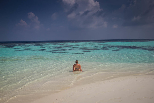Alone in the Maldives