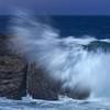 Waves splashing on rocks along 17-Mile Drive, Monterey Peninsula, California