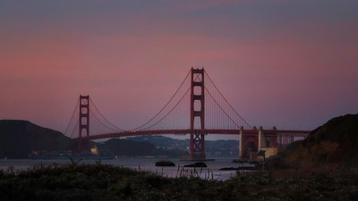 View from Baker Beach, San Francisco, CA
