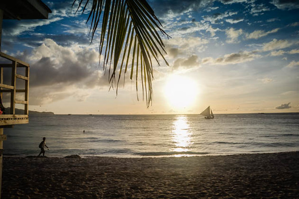 Boracay Sunset, White Beach, Philippines