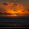 Sunset and clouds at Cannon Beach, Oregon Coast, Oregon