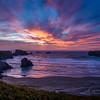 Sunset on Bandon Beach, South Oregon
