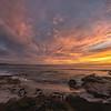 Sunset over Asilomar State Beach, California