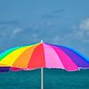 Beach Umbrella on Nokomis Beach, Florida, Gulf of Mexico
