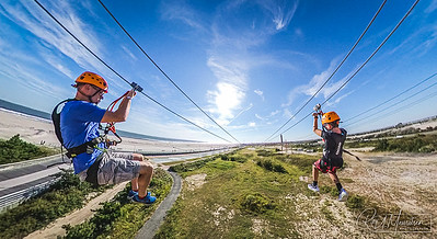 Zip Lining at Jones Beach
