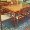 Gorgeous Asian Gold Leaf Dining Table and Chairs