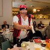 Robert Alario has some fun during the annual Beacon of Hope Harvest Dinner Dance at the Leominster Elks Lodge on Friday evening. SENTINEL & ENTERPRISE / Ashley Green