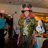 Matt Smith acts as a celebrity waiter during the annual Beacon of Hope Harvest Dinner Dance at the Leominster Elks Lodge on Friday evening. SENTINEL & ENTERPRISE / Ashley Green