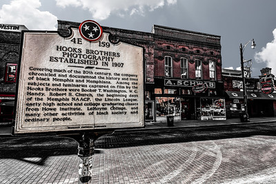 Beale Street Hooks Brothers Photography Sign