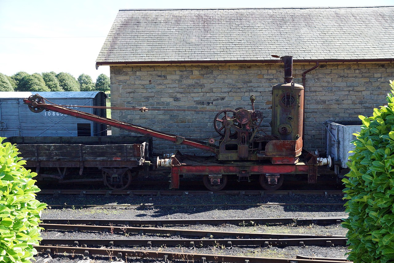 NER 91554 Smith-Rodley Steam Crane 29,08,2016
