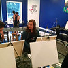 Paint night date!  Our tablemates.