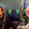 Larry and Bear - on the LIRR into NYC for Bear's birthday dinner!