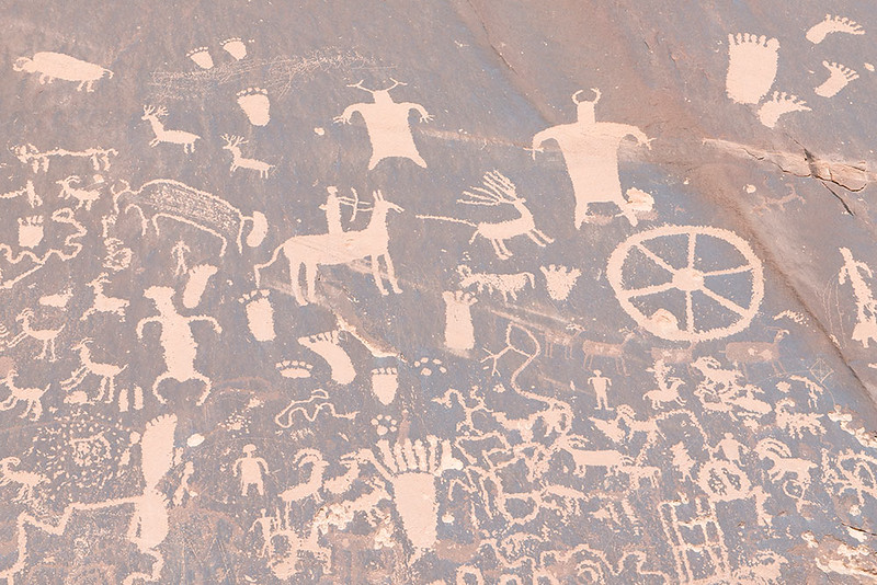 Newspaper Rock, Detailed View, Bears Ears