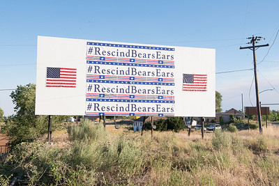 Blanding Rescind Sign, Bears Ears