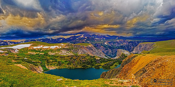 """Storms, Lakes, Plateaus,and Sunset"" Twin Lakes, Shoshone National Forest; Wyoming"