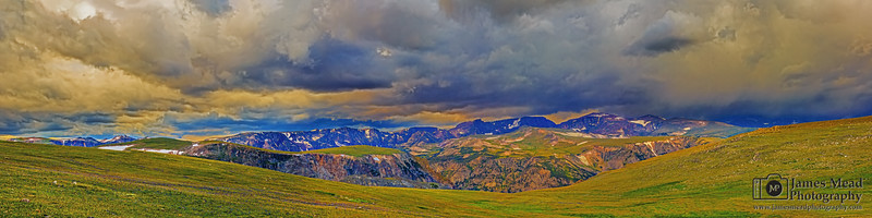 """Beartooth Crown,"" Stormy Sunset over Hellroaring Plateau, Beartooth Mountains, Custer National Forest, Montana"