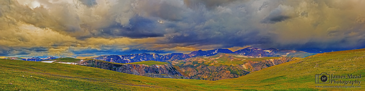 """A Hellroaring Stormy Sunset,"" Beartooth Mountains, Custer National Forest, Montana"