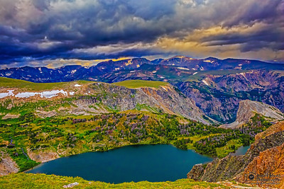 """The Storm Rolls In,"" Twin Lakes, Shoshone National Forest; Wyoming"