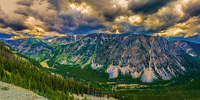 """Mountain Magic,"" Storms over Rock Creek Canyon and Hellroaring Plateau, Beartooth Mountains, Custer National Forest, Montana"