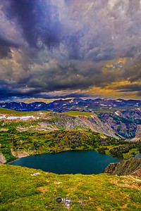 """Angry Skies,"" Twin Lakes Storms at Sunset, Shoshone National Forest, Wyoming"