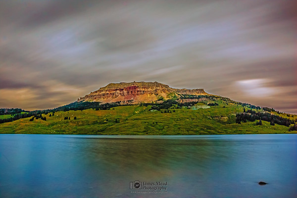 """""""Bear's Dream,"""" Twilight over Beartooth Butte, Beartooth Lake, Beartooth Mountains, Shoshone National Forest, Wyoming"""