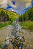 """Flowing Down the Mountain,"" Beartooth Mountains, Custer National Forest, Montana"