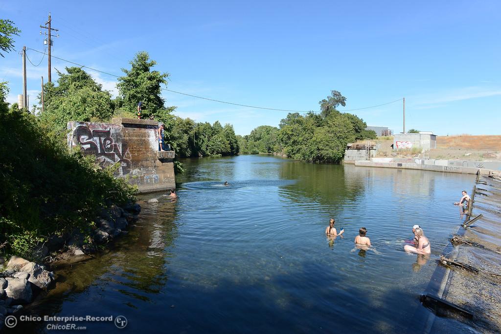 . People beat the heat Friday, June 16, 2017, in the Butte Creek Ecological Preservein Chico, California. (Dan Reidel -- Enterprise-Record)