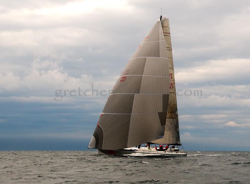 "Beau Geste   Farr 80   Entering the ""Straits of Mackinac"", MI"