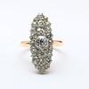 Navette Cluster Ring