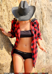 Pretty Blonde Bikini Model on a Beautiful Day