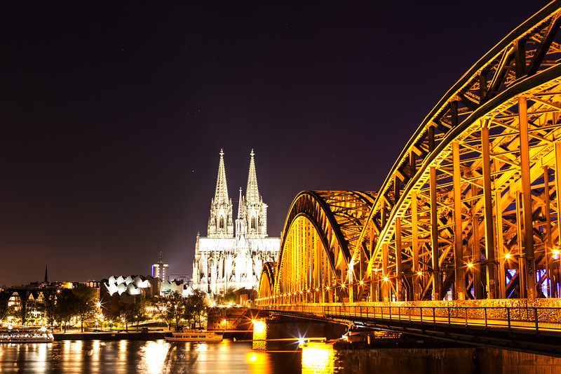 Cologne Cathedral and Train Bridge