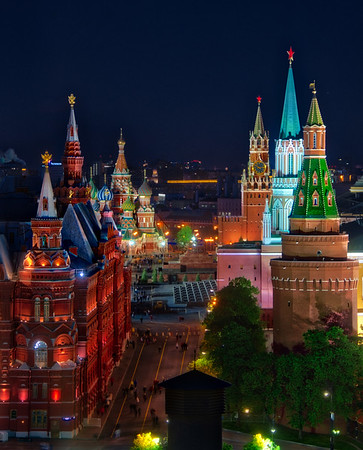 The Red Square In Moscow