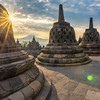 A morning at Borobudur