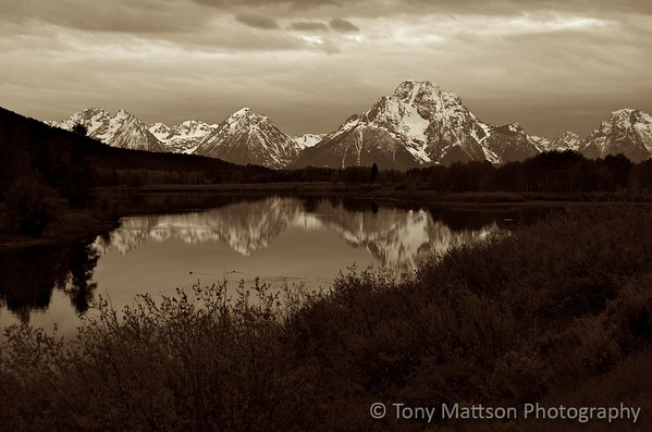 Teton Reflection B/W