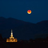 Blood Super Moon Over Payson Utah Temple