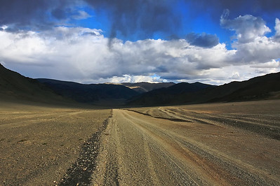 """Highway"" from Ulgii in Northwest Mongolia to the uninhabited Altai National Park and Tavan Bogd."