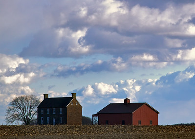 Farm House on a winter afternoon, Bombay Hooks, Delaware