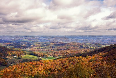 View to the north along the Blue Ridge Parkway in southern Virginia
