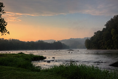 Dawn on the New River, Fries, Virginia