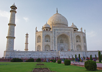 Images from the Taj Mahal, Agra, India, at sunset.