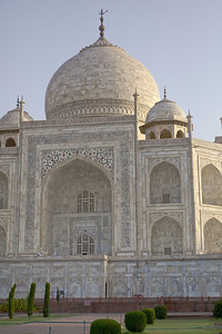 Images from the Taj Mahal, Agra, India, at sunrise.