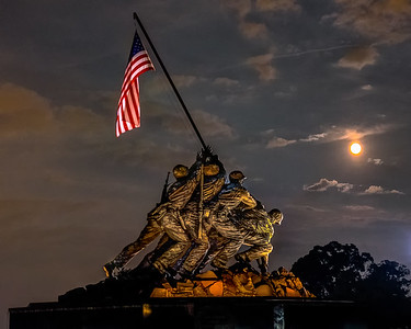 Supermoon in Washington DC August 2014